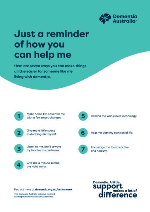 Dementia 7 tips B Poster